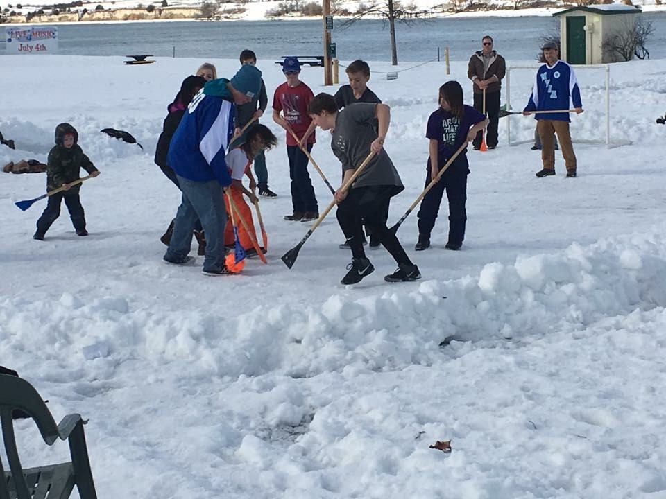 Local WinterFest showcase future Olympic Broomball